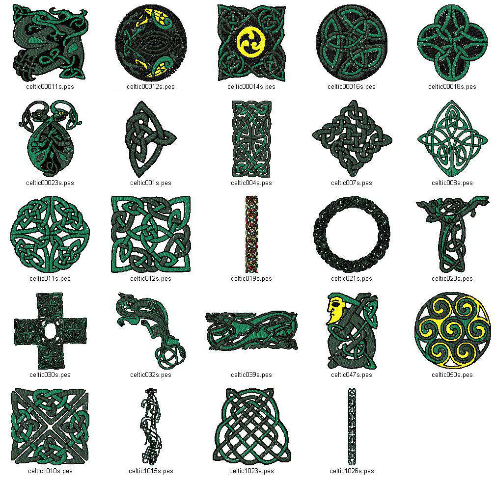 CELTIC FONT VOL.1 5x7 Multi-Format Machine Embroidery Designs on CD-Rom